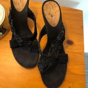 Cork strappy sandals